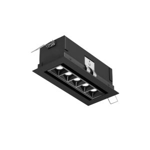 Black Mutli Spot Directional Five-Light LED Recessed Downlight
