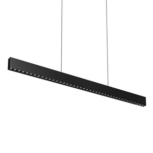 Black Multi Spot 48-Light LED Linear Pendant