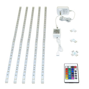 White Adjustable LED WIFI Under Cabinet Light Strip Kit