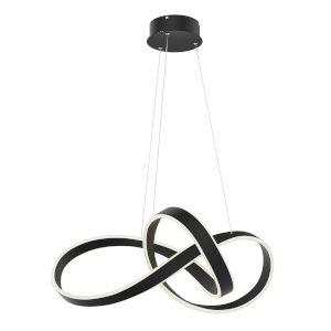 Black LED Twirl Pendant