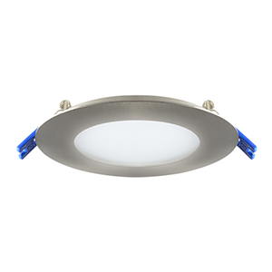Satin Nickel Four-Inch LED Recessed Panel
