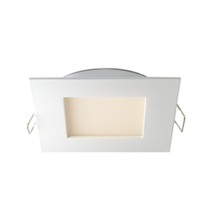 White Four-Inch 3K LED Square Recessed Panel