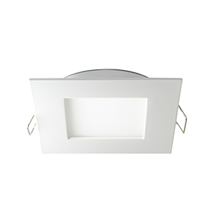 White Four-Inch 4K LED Square Recessed Panel