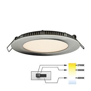 Satin Nickel 27K-4K LED Recessed Panel