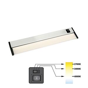 CCT Linear Satin Nickel Nine-Inch 27K-4K LED Under Cabinet Strip Light