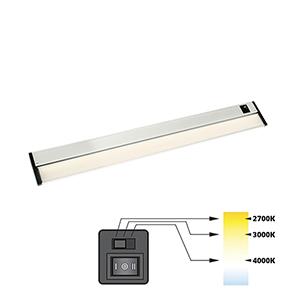 CCT Linear Satin Nickel 30-Inch 27K-4K LED Under Cabinet Strip Light