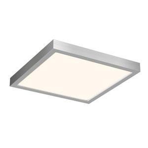Satin Nickel 17W Square LED Flush Mount