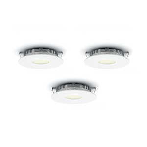 Superpuck White LED Under Cabinet Recessed Puck Light Kit (Set of 3)