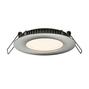 Designer Series Satin Nickel 6W 3000K 500 Lumens Energy Star Round LED Recessed Panel