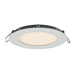 Designer Series White 9W 3000K Energy Star Round LED Recessed Panel