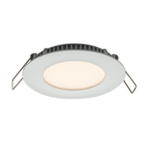 Designer Series White 6W 3000K 500 Lumens Energy Star Round LED Recessed Panel