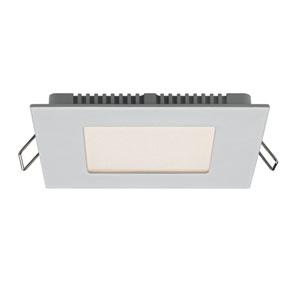 Designer Series Satin Nickel 8W 3000K 500 Lumens Energy Star Square LED Recessed Panel