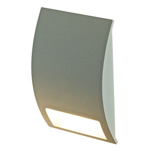Forms Series Silver Grey 3.5W Curve LED Step Light