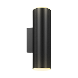 Black Led Outdoor Round Cylinder Wall Sconce