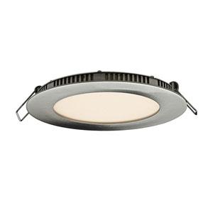 Designer Series Satin Nickel 9W 3000K 620 Lumens Energy Star Round LED Recessed Panel