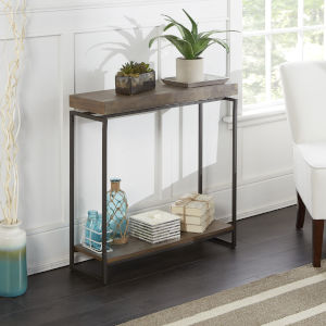 Phoenix Light Graphite and Gunmetal Floating Top Console Table
