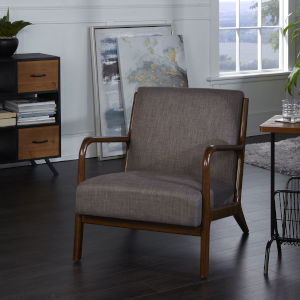 Remy Dark Brown Upholstered Accent Chair