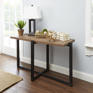 Emma Pine and Black Console Table