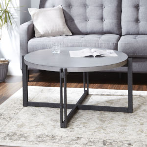 Emma Gunmetal and Grey Round Coffee Table