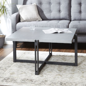 Emma Grey and Black Square Coffee Table