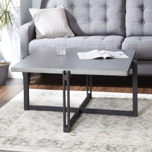 Emma Brass and Gunmetal Square Coffee Table