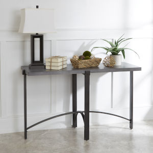 Saint Grey and Gunmetal Console Table