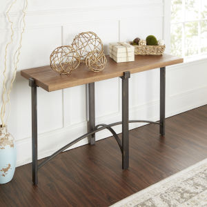 Saint Pine and Gunmetal Console Table