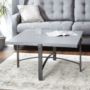 Saint Grey and Gunmetal Square Coffee Table