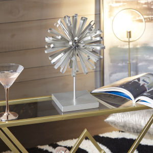 Silver Bow Stand Table Decor