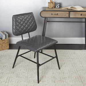 Gray and Gunmetal Dining Chair
