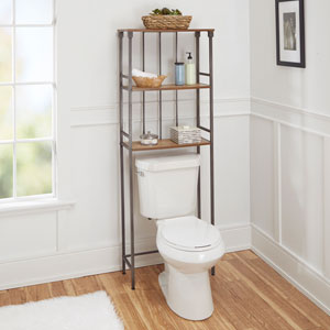 Ava Bathroom Collection 3-Tier Space Saver, Gunmetal
