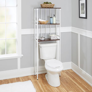 Ava Bathroom Collection 3-Tier Space Saver, White