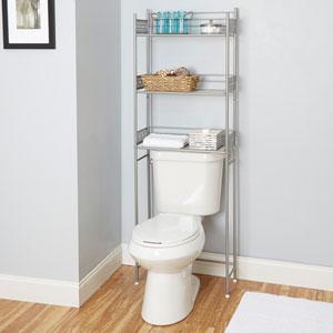 Magnolia Bathroom Collection Space Saver, Nickel