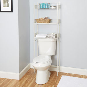 Magnolia Bathroom Collection Space Saver, White