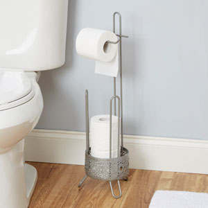 Magnolia Bathroom Collection Toilet Paper Holder, Nickel