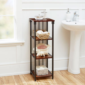 Ava Bathroom Collection 4-Tier Floor Shelf, Oil Rubbed Bronze