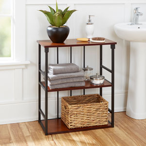 Ava Bathroom Collection 3-Tier Wall Shelf, Oil Rubbed Bronze