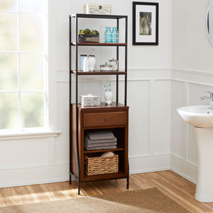 Magnolia Bathroom Collection Storage Linen Cabinet