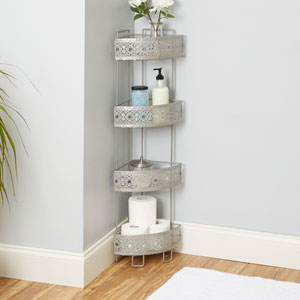 Magnolia Bathroom Collection Corner Caddy, Nickel