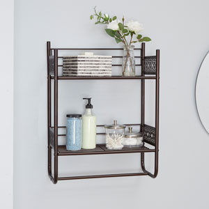 Magnolia Bathroom Collection Wall Shelf, Oil Rubbed Bronze