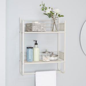Magnolia Bathroom Collection Wall Shelf, White