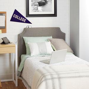 Cypress Headboard in Light Grey, Twin