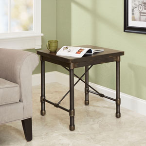 Olivia Industrial Collection End Table