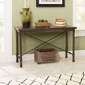 Olivia  Industrial Collection Console Table