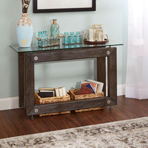 Lucas Industrial Collection Console Table