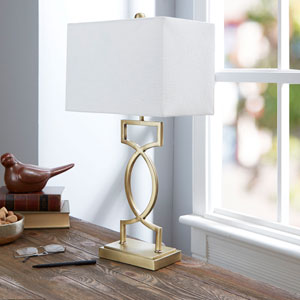 Estelle 24.5-inch Flourescent Table Lamp with Shade