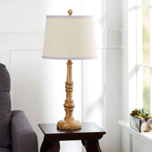 Palm Flourescent Table Lamp with Shade