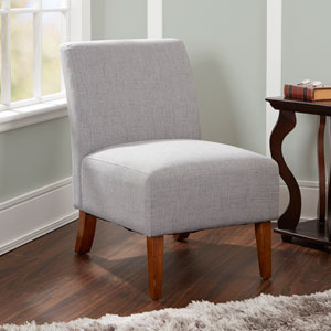 Addison Upholstered Accent Chair in Light Grey