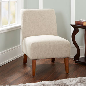Addison Upholstered Accent Chair in Tan