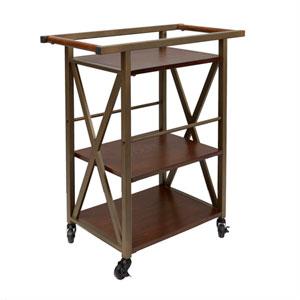 Orwell Three Tier Square Bar Cart